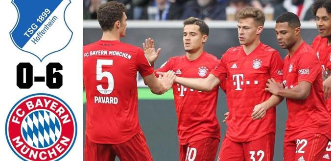 Vòng 24: Hủy diệt Hoffenheim, Bayern Munich vững vàng ngôi đầu bảng